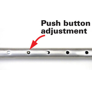 Tent Pole - Aluminum Pole - 8ft - Push Button