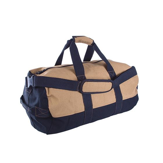 Duffel Bag with Zipper - 2 Tone - 14ƒ?? x 24ƒ??