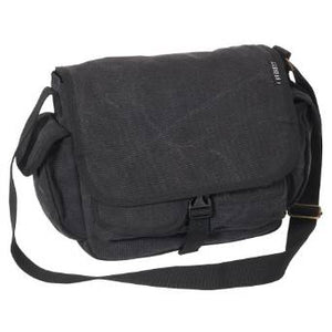 Everest Luggage Canvas Messenger Bag - Black