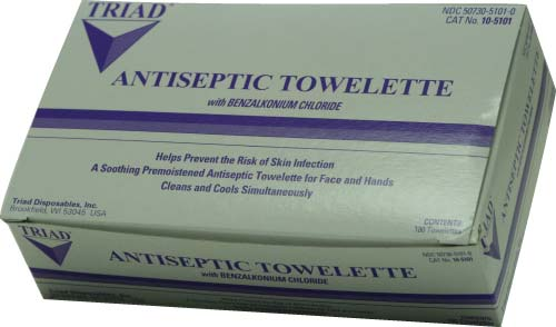Antiseptic Sanitation Towelettes (box of 100)