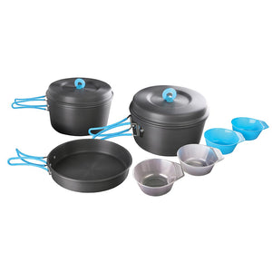 4 Person Cook Set - Hard Anodized Aluminum
