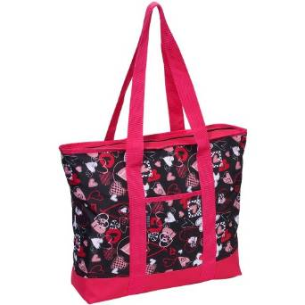 Everest Fashion Shopping Tote - Black/Red/Pink/White