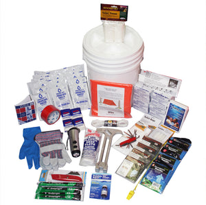 Deluxe Emergency Survival Bucket Kit - 4 Person