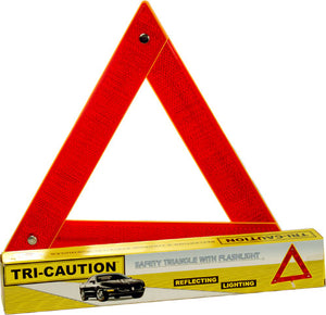 [Discontinued] Safety Triangle with Flashing Lights (Folding)