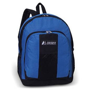 Everest Luggage Backpack with Front and Side Pockets  - ev-bp2072-blue