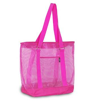 Everest Mesh Shopping Tote  - Hot Pink