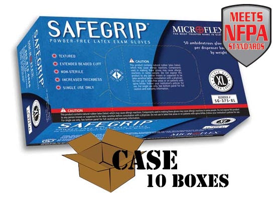 Microflex - SafeGrip Powder-Free Latex Exam - Case