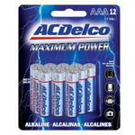 AC Delco - AAA Maximum Power Alkaline - 12 Pack