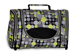 Everest Deluxe Toiletry Bag - Yellow/Gray Dot