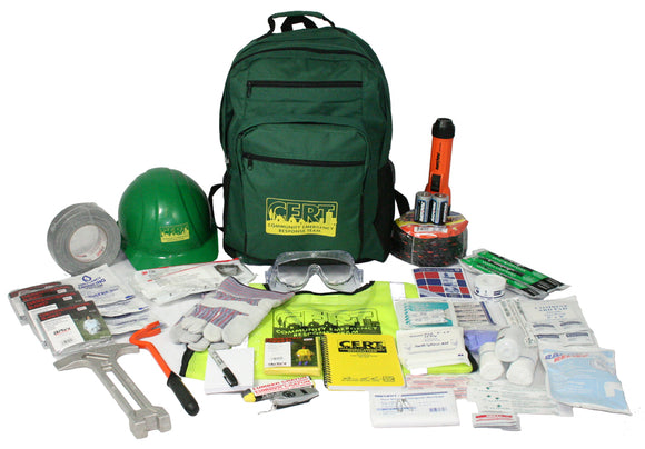 CERT Gear Pack 1: Safety Vest, Helmet, Palm Gloves, and Emergency Essesntials