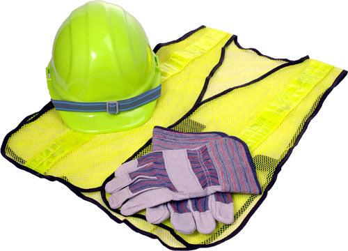 CERT Basic Pack 1: Safety Vest, Helmet, and Palm Gloves