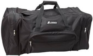 Everest Luggage Classic Gear Bag - Large, Black  - Black
