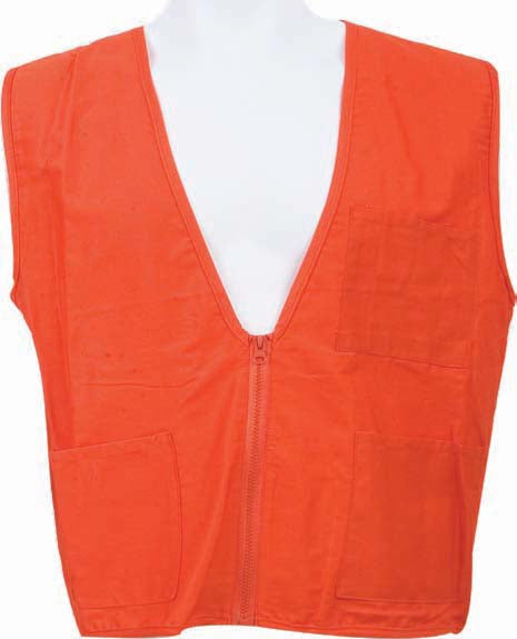 100% Cotton Orange Surveyor Vest