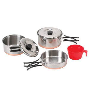 Two Person Stainless Steel Cook Set