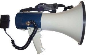Piezo Dynamic Megaphone w/ Detachable Mic, Siren & Whistle - 1760 Yard Range