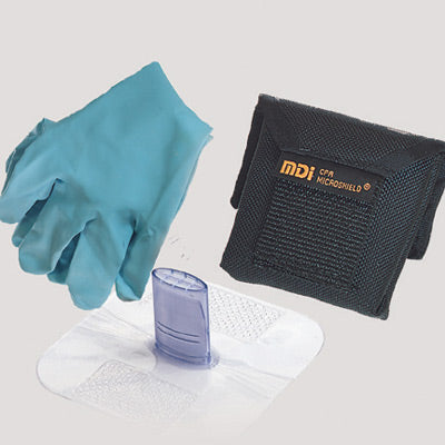 MDI CPR Microshield Microholster Breather With Gloves In Nylon Belt Holster