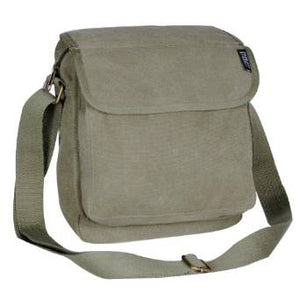 Everest Luggage Canvas Front Pocket Messenger  - Olive