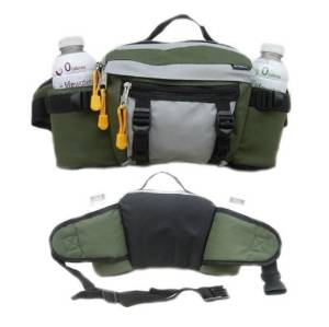 Lumbar Waist Pack - Holds Two Water Bottles - Olive