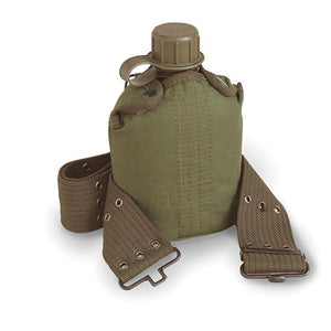Plastic Canteen/Cover/Belt Set