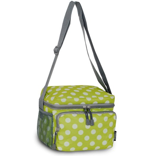 Everest Cooler Lunch Bag - Lime/White Dot