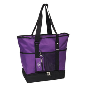 Everest Luggage Deluxe Shopping Tote - Dark Purple/Black