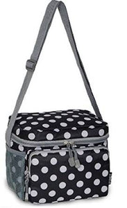 Everest Cooler Lunch Bag  - Black Dots