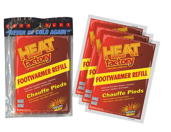 19483 - Heated Footwarmer Poly Bags - 3 Pairs