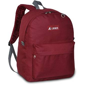 Everest Luggage Classic Backpack - Burgundy