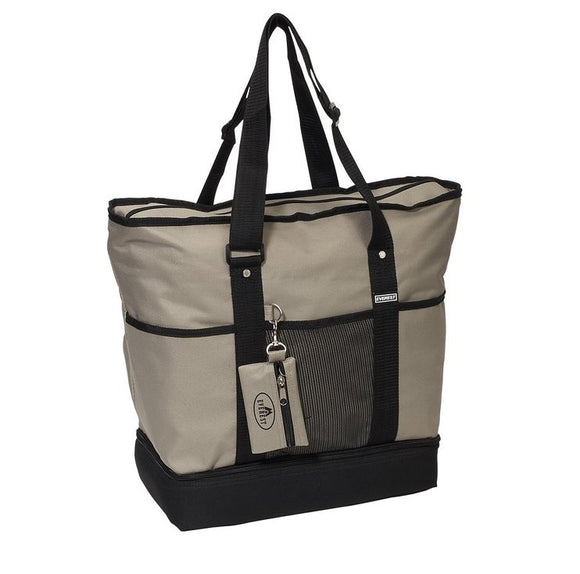 Everest Luggage Deluxe Shopping Tote - Khaki/Black