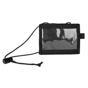 Folding Wallet with Adjustable Neck Drawstring - Black