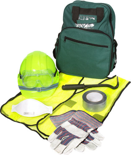 CERT Basic Pack 2: Safety Vest, Helmet, Palm Gloves, Duct Tape, Goggles, Dust Mask, and More