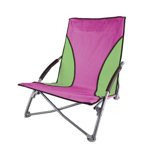 Low-Profile Fold-Up Chair - Purple / Green