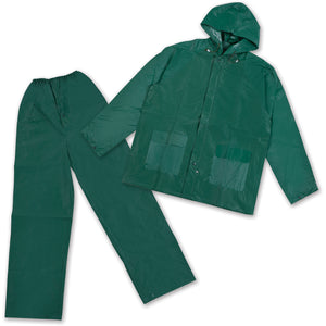 Mens Vinyl Rainsuit - Green - XL