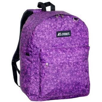 Everest Luggage Classic Backpack - Purple Vines