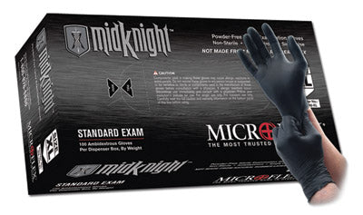 Microflex - Black MidKnight Nitrile Gloves-Box