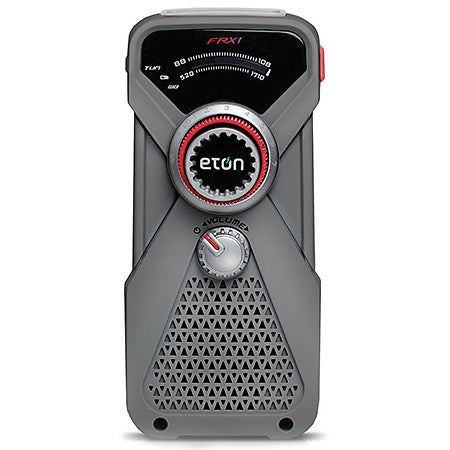 Eton - Hand turbine weather radio with LED flashlight - Grey