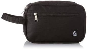 Everest Dual Compartment Toiletry Bag  - Black