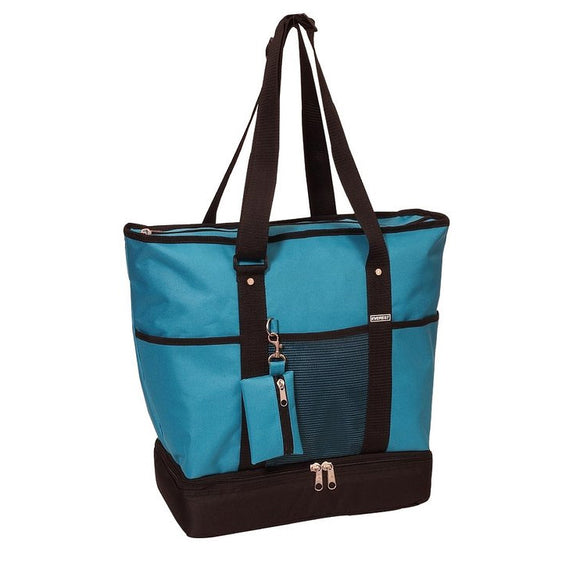 Everest Luggage Deluxe Shopping Tote - Turquoise/Black