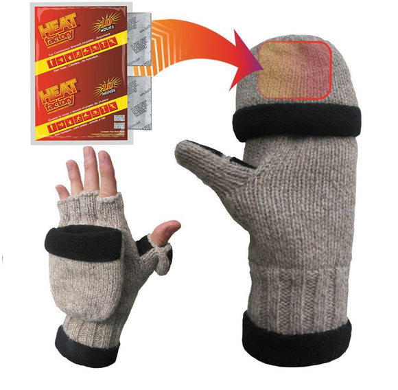 994 - Ragg Wool Heated Pop Top Gloves - Pair