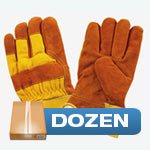 Dozen - Brown & Yellow Insulated Work Gloves