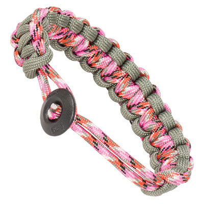 Klondike Adjustable Paracord Bracelet - Pink / Gray