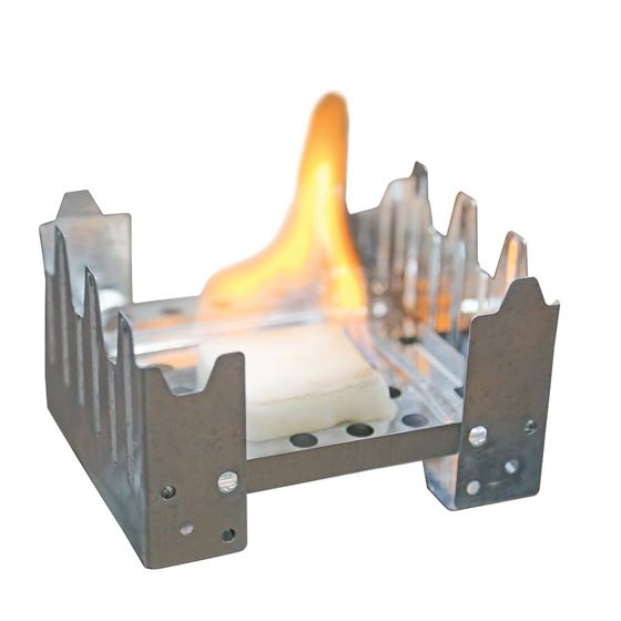 Fold-Up Backpacker's Stove - Silver