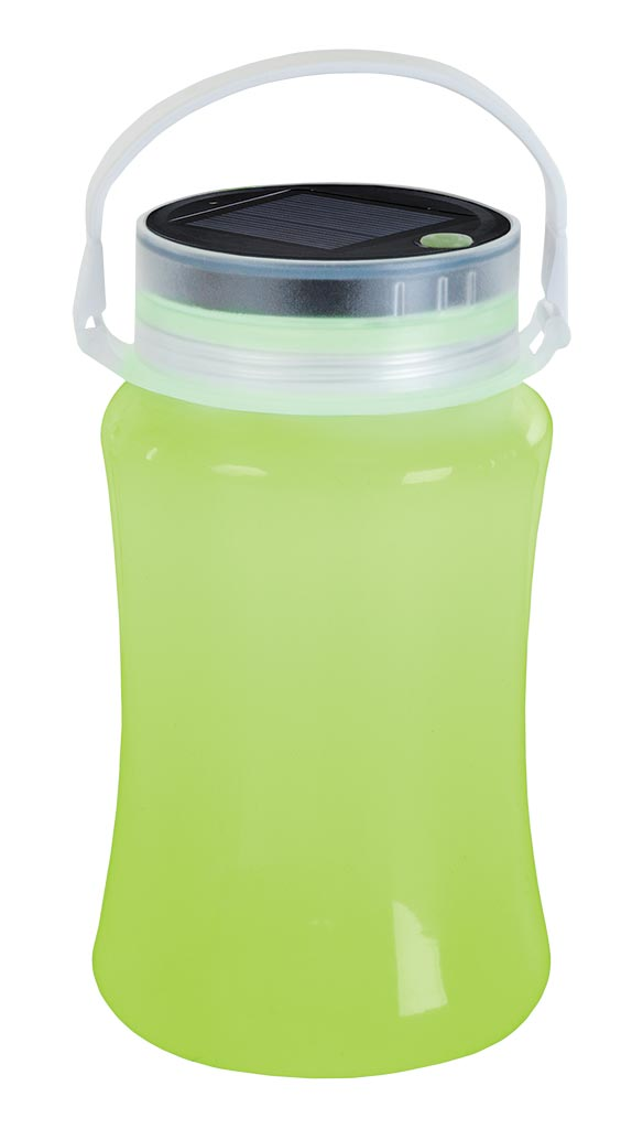 Solar Storage Bottle/Lantern - Green