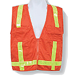 Orange Cotton/Poly Blend Surveyor Vest