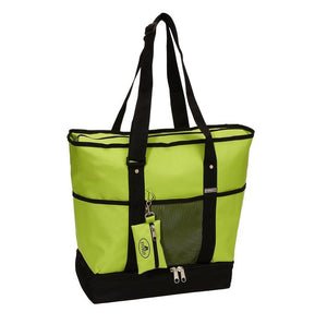 Everest Luggage Deluxe Shopping Tote - Lime/Black