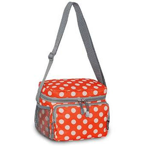 Everest Cooler Lunch Bag - Orange/White Dot