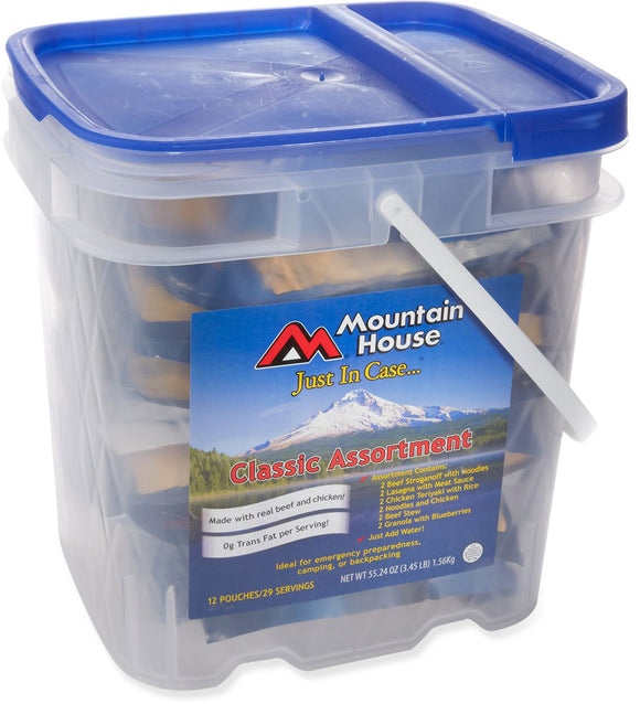 Mountain House Classic Assortment Bucket - Long Term up to 25