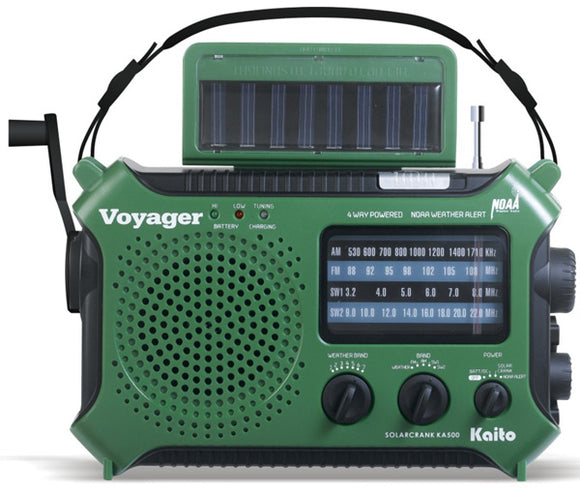 KA500 Voyager: Multifunction Dynamo & Solar Powered Radio