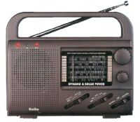Solar and Crank AM/FM/NOAA Weather Radio with LED Flashlight