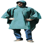 PVC-Nylon Poncho - Green - 56 IN X 80 IN